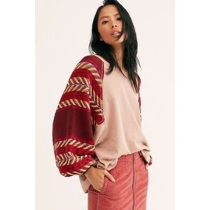 FP We the Free Rainbow Dreams knit pullover